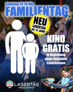 Sonntag FAMILIENTAG    Pro Erwachsener Vollzahler  spielt das Kind kostenlos